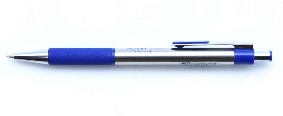 Guľôčkové pero kovové, modré 0,7mm