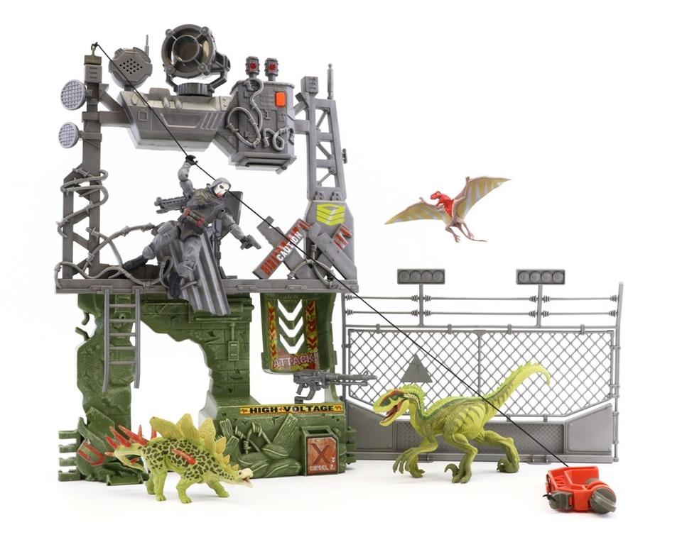 Pevnosť set - vojaci ,dinosaury