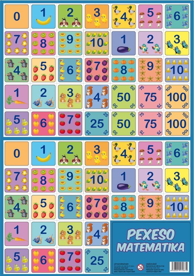 Pexeso Matematika 32 dvojic