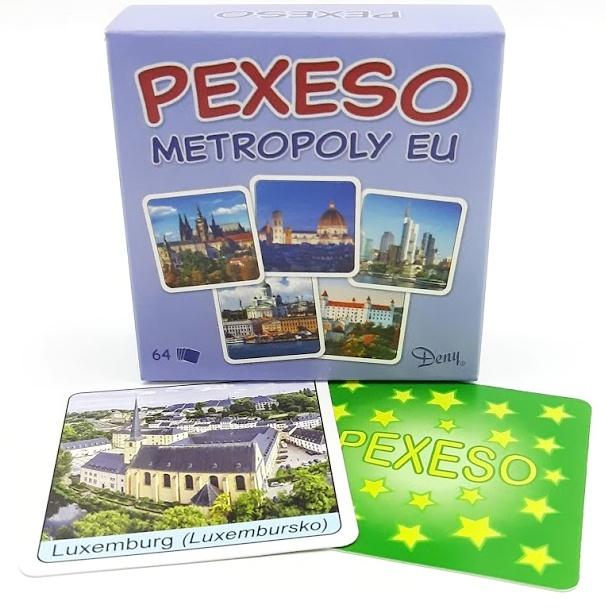 Pexeso Metropoly EU 64ks
