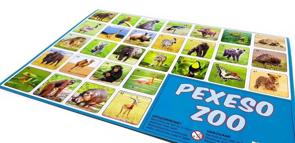 Pexeso Zoo 32 dvojic