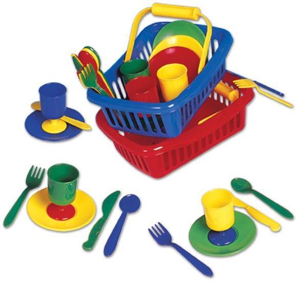 Piknik mini set v košíku - červená