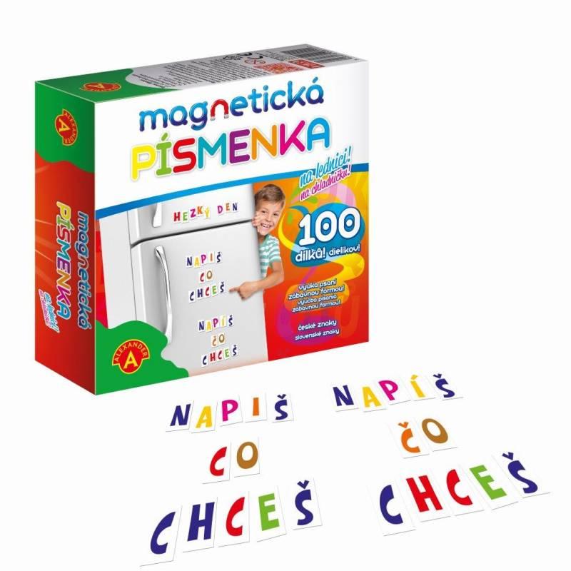Písmenka magnetické 100 ks