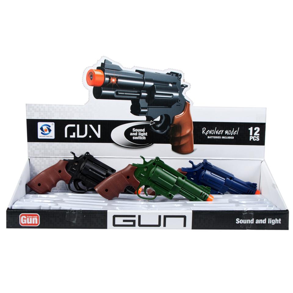 Pištoľ zvukové a svetelné efekty 17cm - čierna