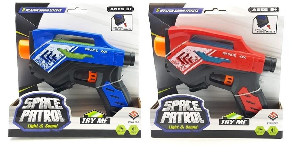 Vesmírna pištoľ Space Patrol 18cm - červená