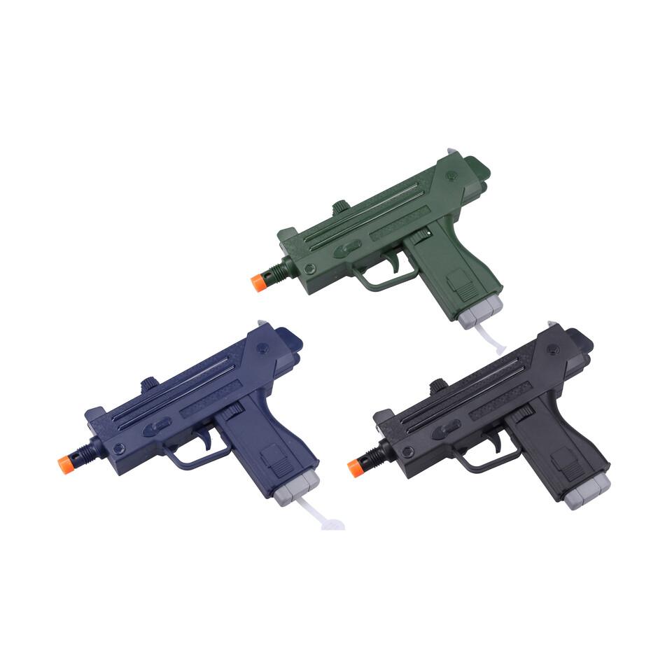 Pištoľ s efektmi 24cm - modrá
