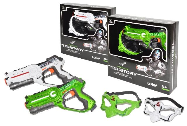 Pištoľ laserová + maska 1ks