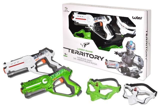 Pištoľ laserová + maska 2ks