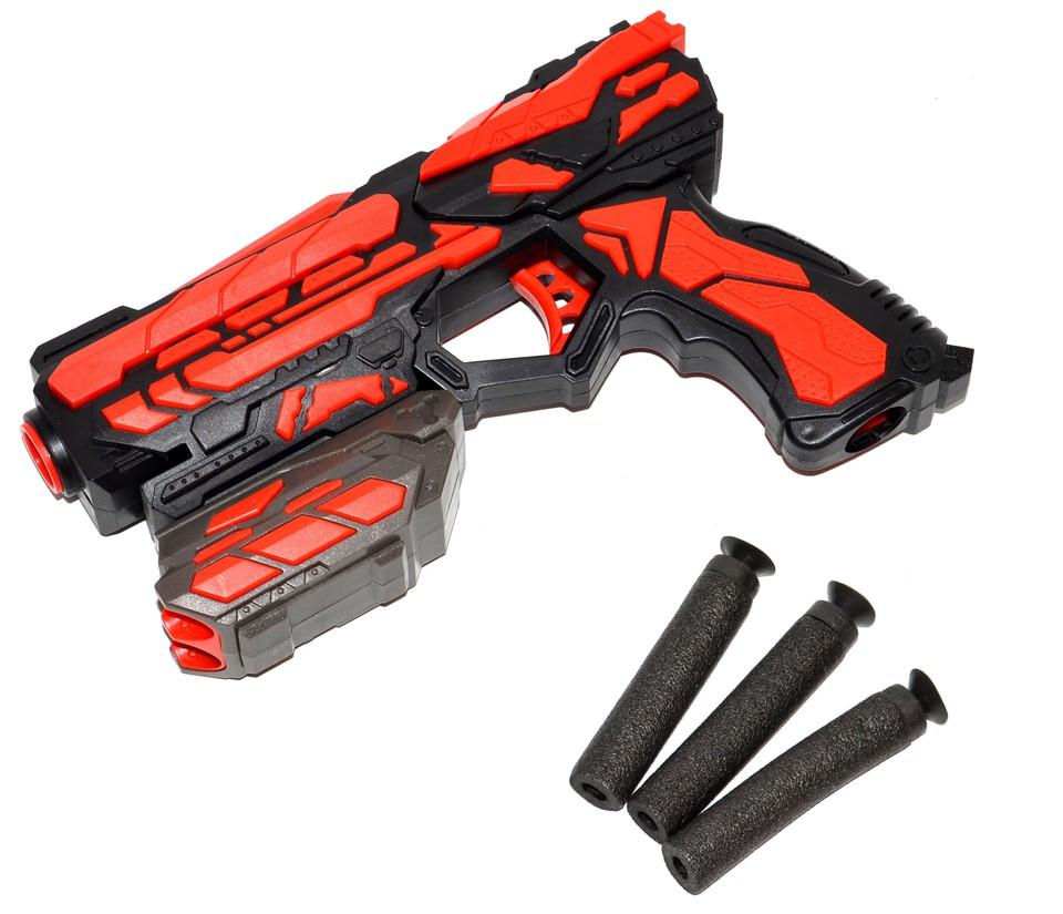 Pištoľ + 6 penových nábojov