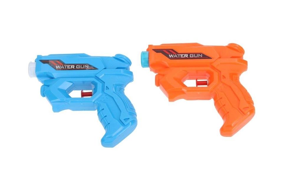 Pištoľ vodná 12cm - modrá