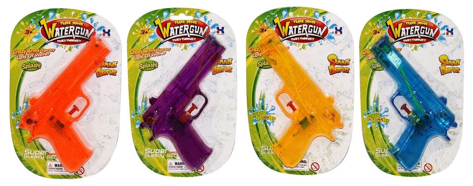 Pištoľ vodná 18cm - fialová