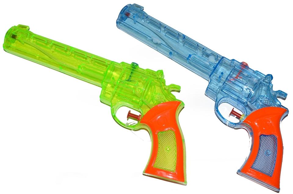 Pištoľ vodná 28cm - modrá