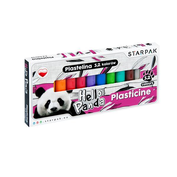 Plastelína Panda12ks
