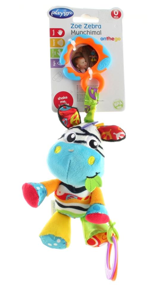 Playgro Zebra na zavesenie s hryzátkom