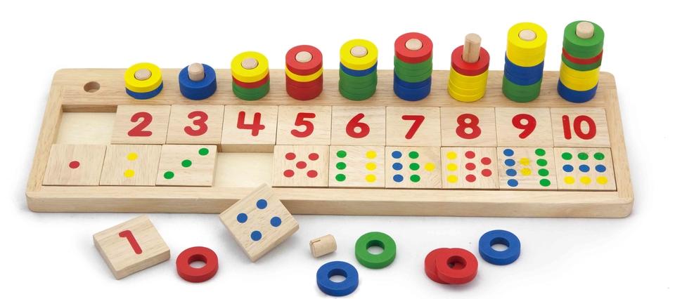 Drevená hra počítanie