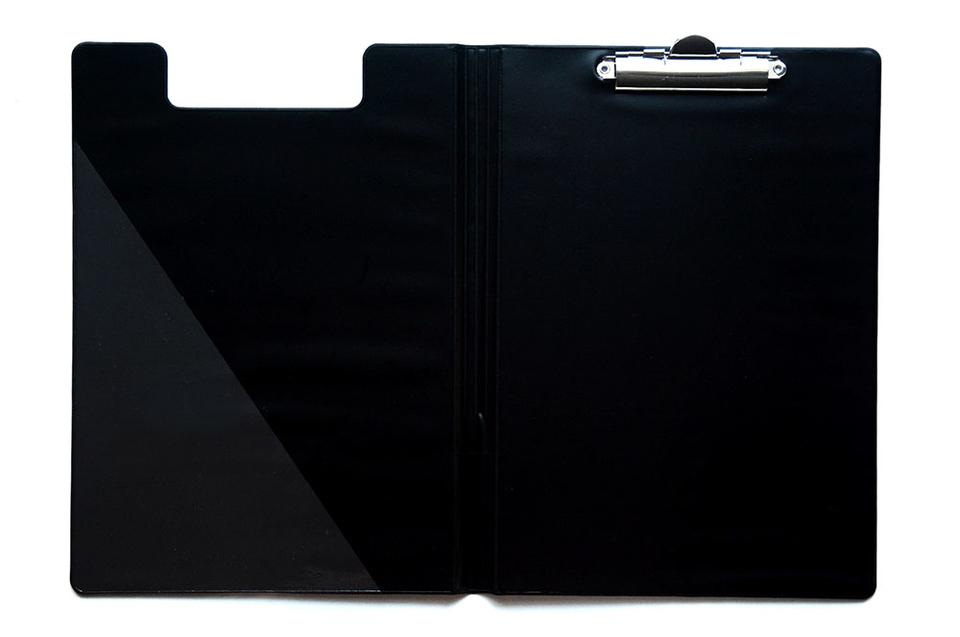 Podložka dvojitá s klipom A5 čierna