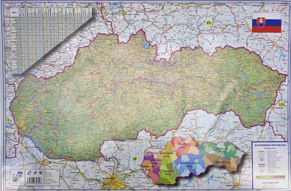 Podložka na stôl - Slovenská republika 60x40cm