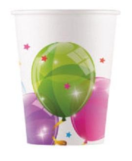 Poháre Balóny 200ml/8ks