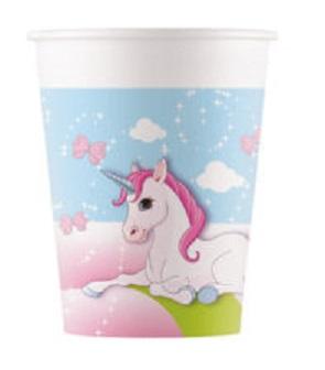 Poháre Bio Unicorn 200ml/8ks