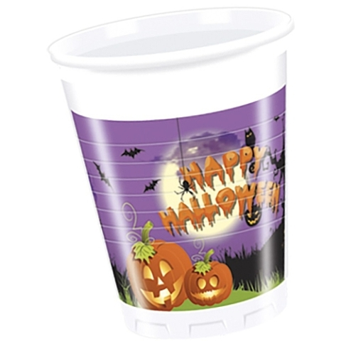 Poháre Halloween 200ml 8ks