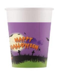 Poháre Halloween 200ml/8ks