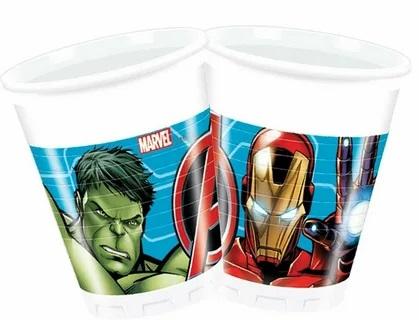 Poháre Avengers 200ml/8ks