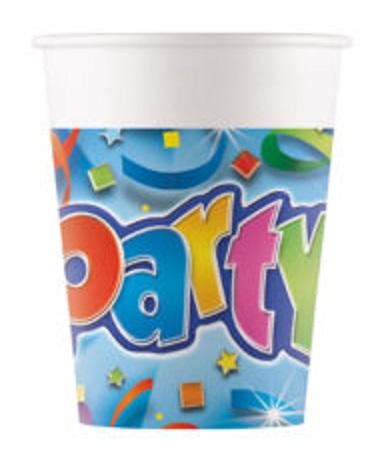 Poháre Party 200ml/8ks