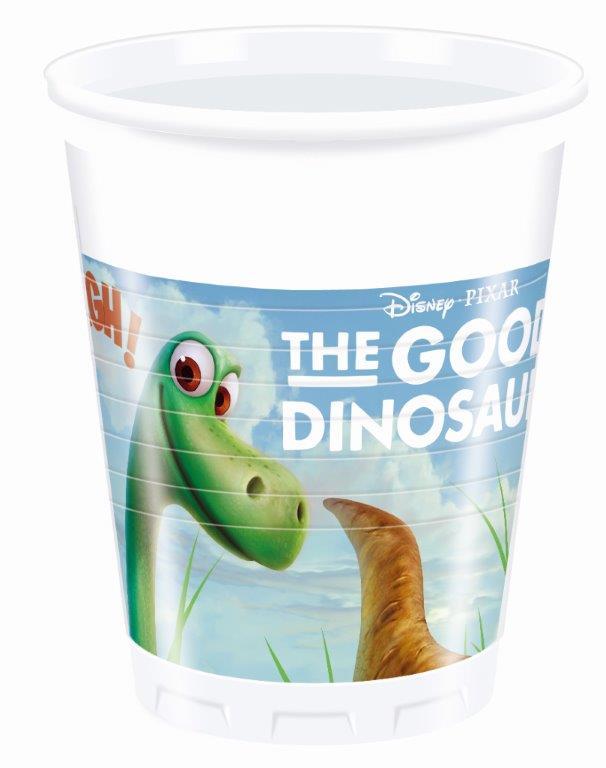 Poháre Dinosaurus 200ml 8ks