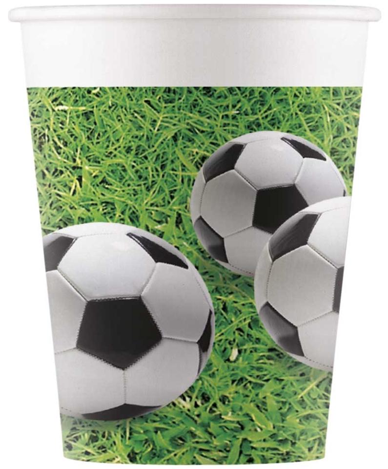 Poháre Football 200ml 8ks