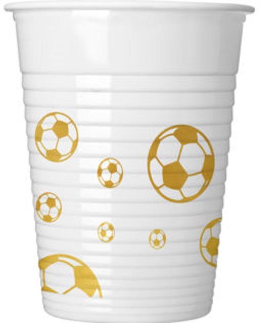 Poháre Football zlatý 200mkl 8ks
