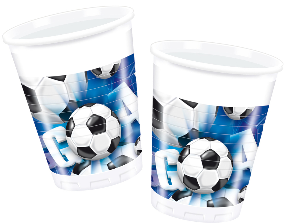 Poháre Football modrý 200ml 10ks