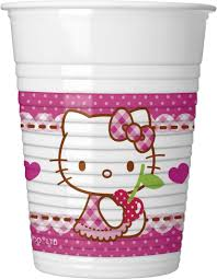 Poháre Hello Kitty 200ml 8ks