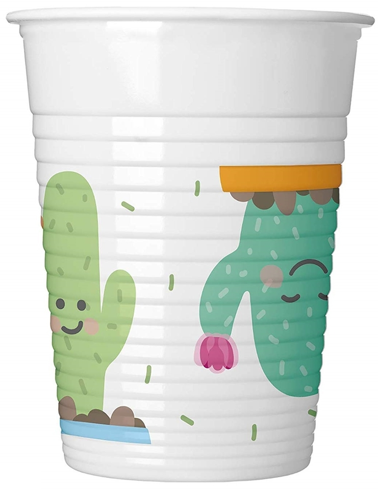 Poháre Kaktus 200ml 8ks