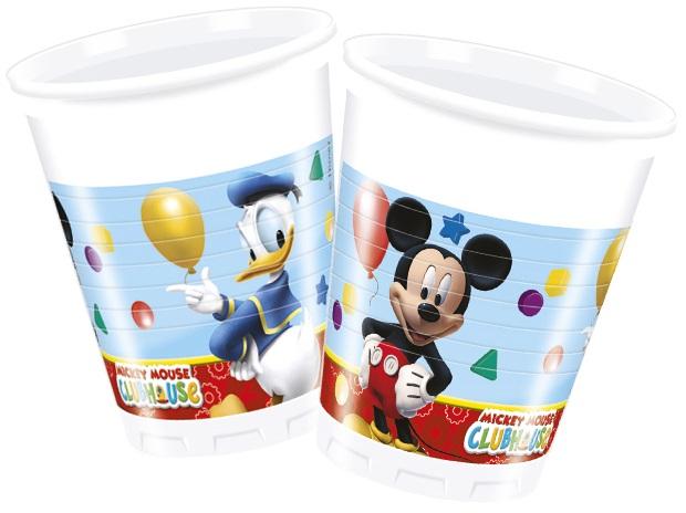 Poháre Mickey a jeho kamaráti 200ml 8ks