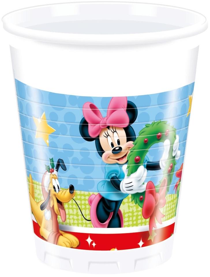 Poháre Mickey Vianoce 200ml 8ks