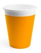 Poháre Párty oranžové 200ml 8ks