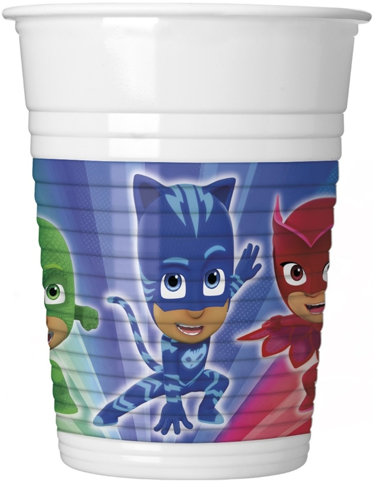 Poháre PJ Masks 200ml 8ks