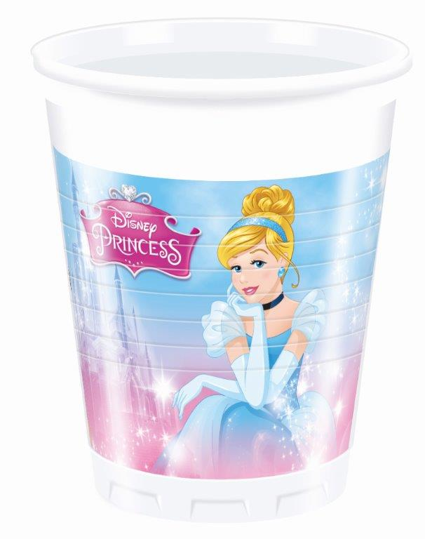 Poháre Princess 200ml 8ks