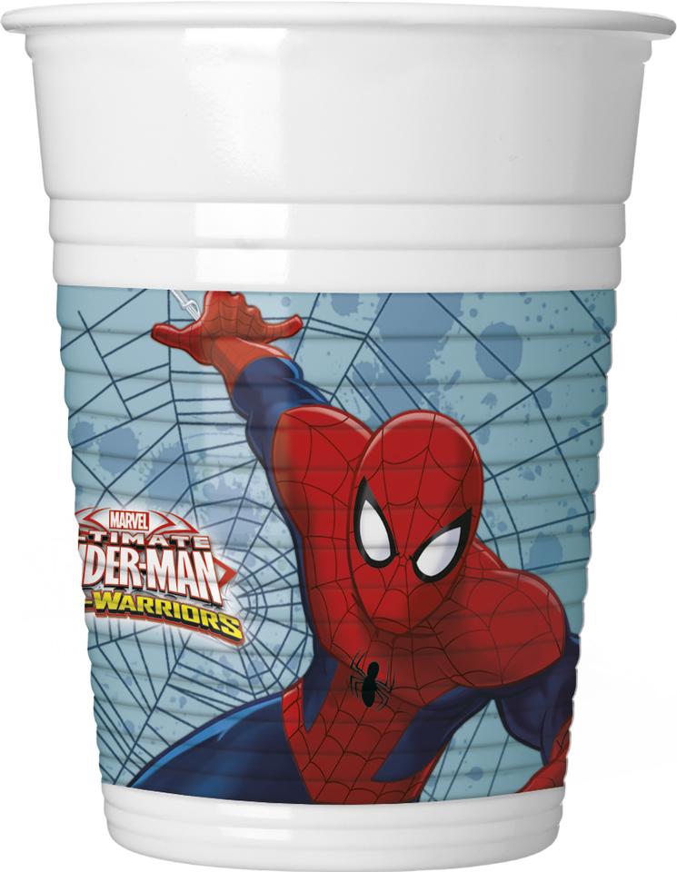 Poháre Spiderman 200ml 8ks