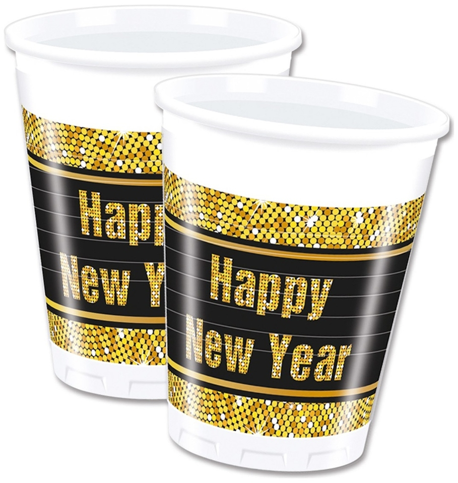Poháre Šťastný nový rok 200ml 8ks