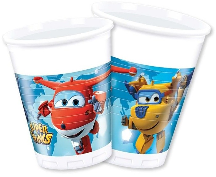 Poháre Super Wings 200ml 8ks