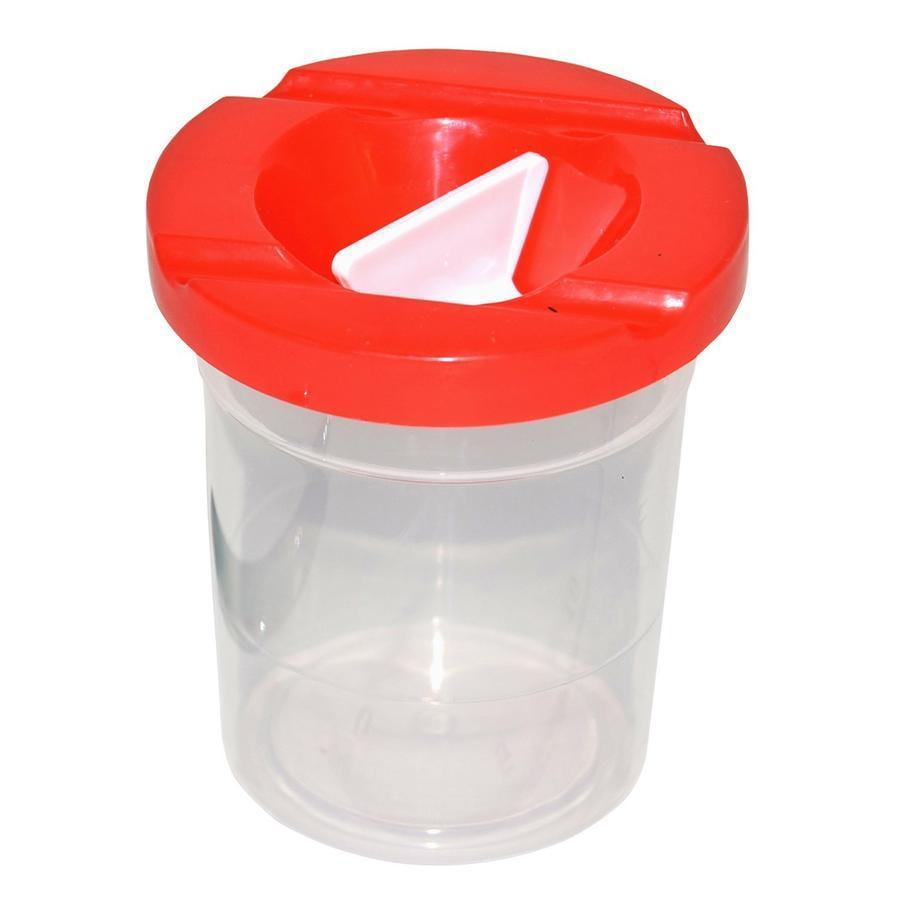 Kelímok na vodu - výtvarný 9x8cm - červená