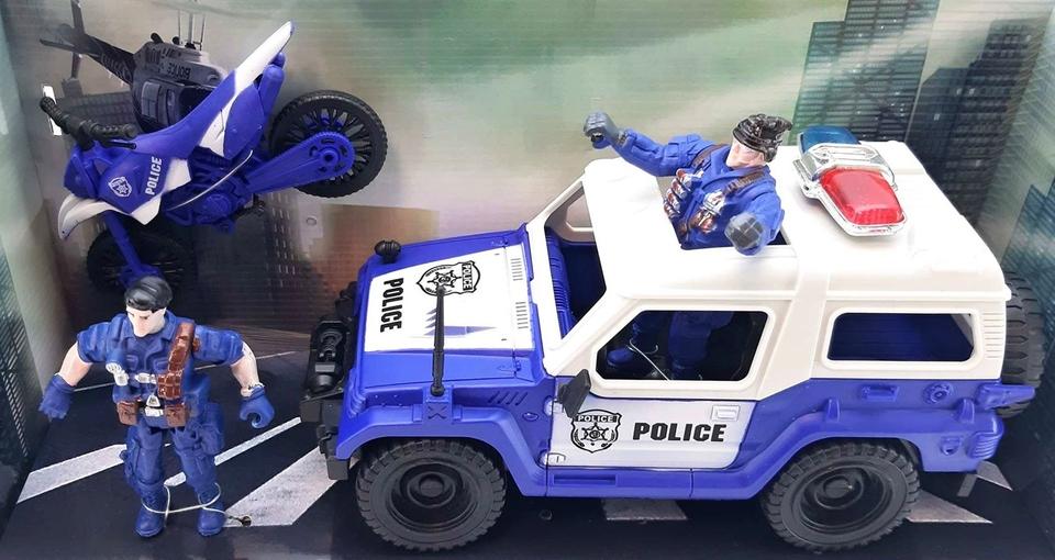 Záchranári policajný set 3ks, 2druhy - vrtulník