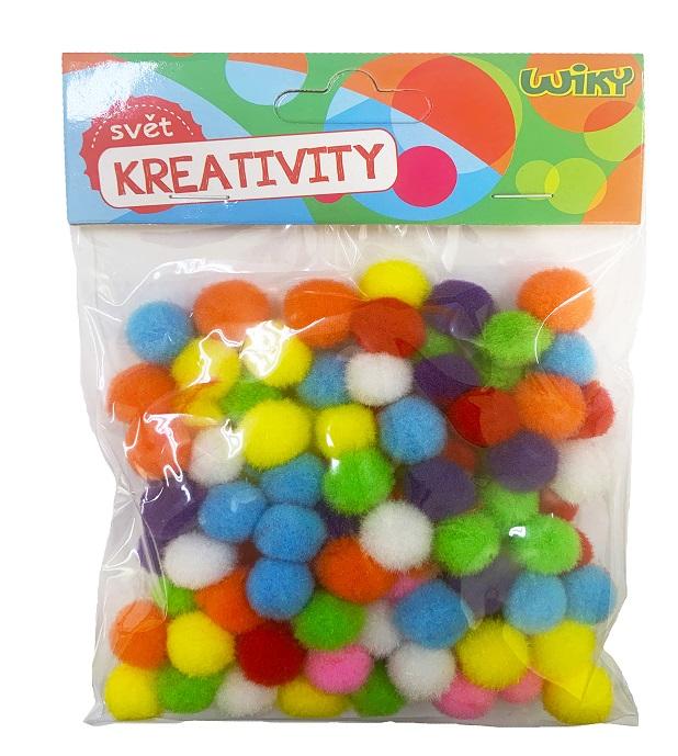 Kreativity Pom Pom guličky 1,5cm/100ks