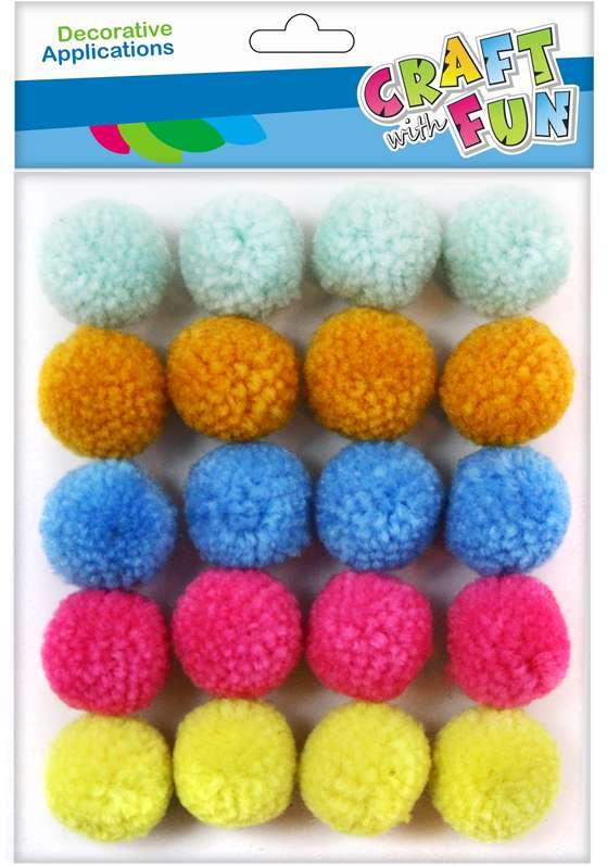 Craft with Fun Pom Pom guličky 20ks