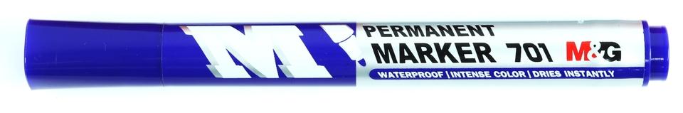 Modrý vodeodolný popisovač
