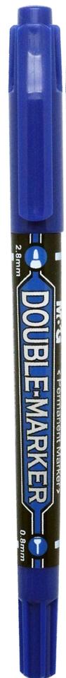 Popisovač obojstranný modrý 0.8mm/2.8mm