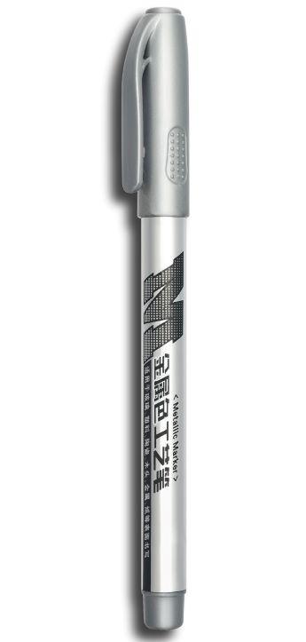 Vodeodolný strieborný metallický popisovač 1,5mm