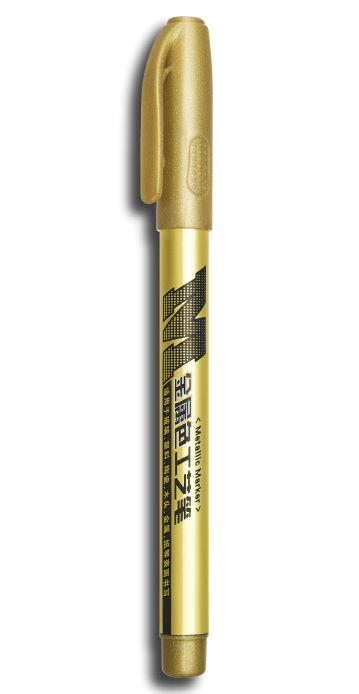 Vodeodolný metalický zlatý popisovač 1,5mm