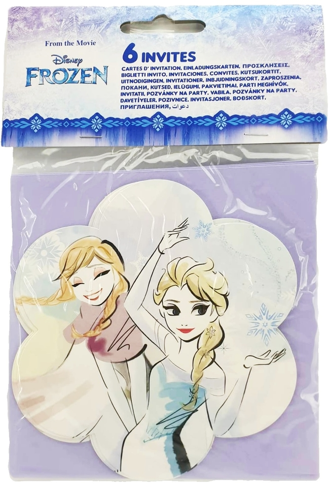Pozvánka Frozen 6ks